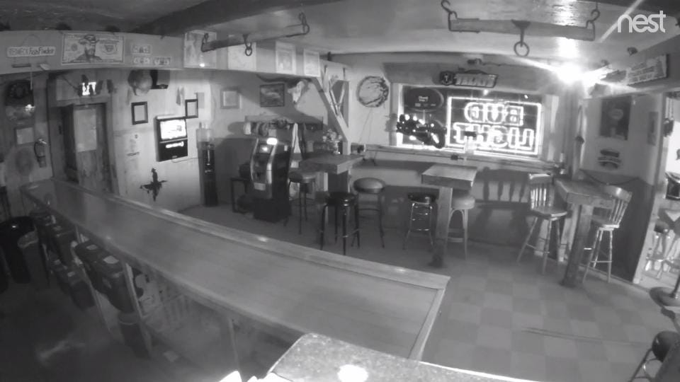 Security camera footage shows a blaze igniting at Dead Rat Saloon in Woodlake early Monday morning. The fire is currently under investigation.