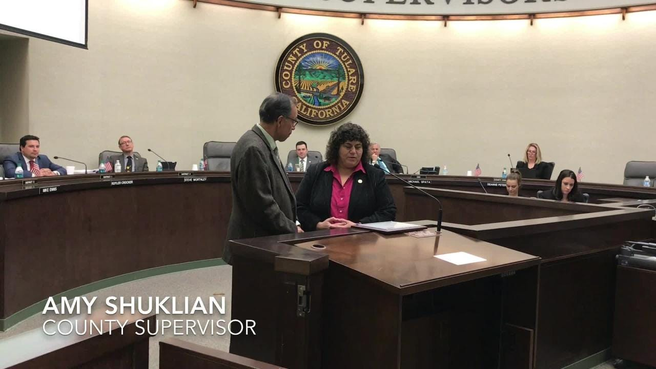 The Tulare County Board of Supervisors honored Mike Olmos, retiring Visalia city manager. Olmos started his career in public administration with the county. Visalia Council already selected Randy Groom as the new city manager.