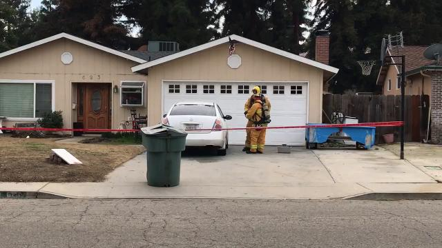 A Visalia man discovered a chemical had been spilled on his Nissan Altima around 10:30 a.m. Wednesday and immediately called 911.