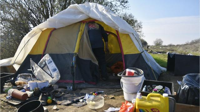 The homeless living on the river have 30 days to leave the area.
