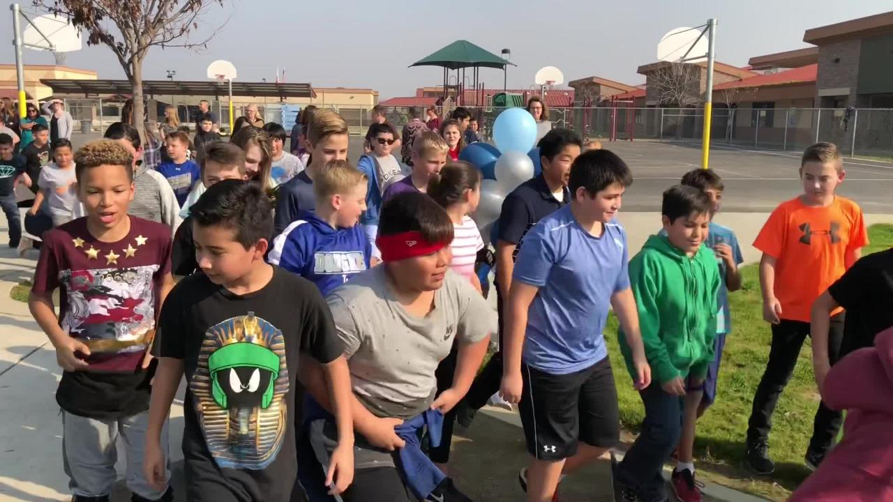 Shannon Ranch Elementary School unveiled its new track to administrators and community members Wednesday afternoon.