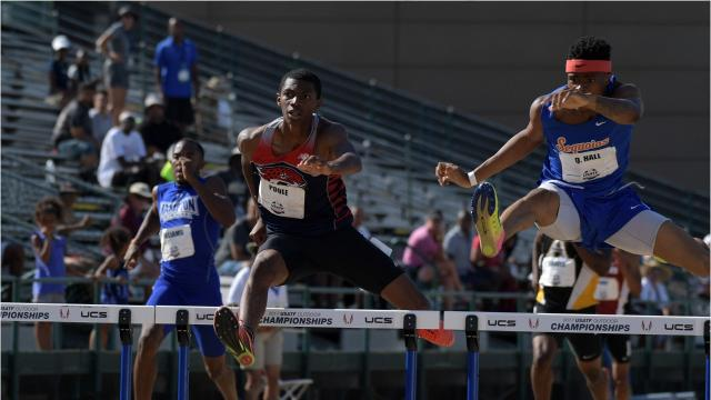 College of the Sequoias sophomore Quincy Hall is one of the top hurdlers in the world.
