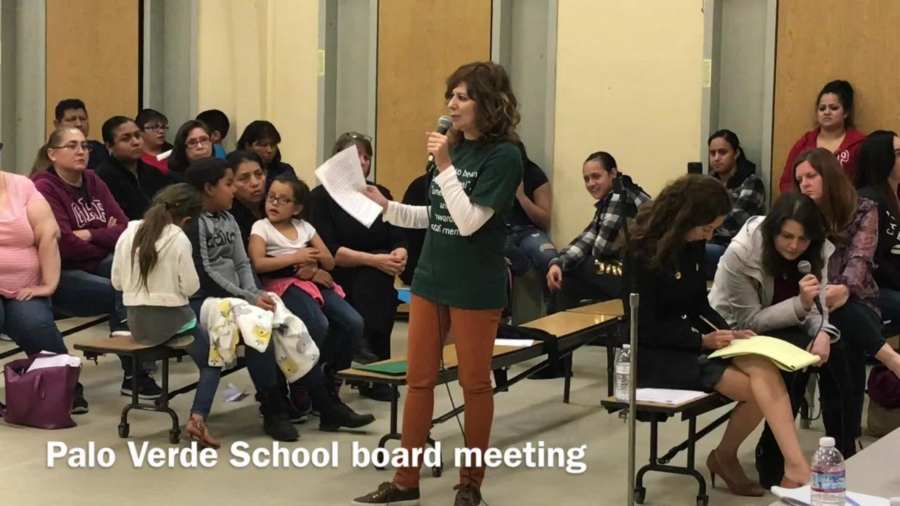 Palo Verde school teachers and parents battled over former Principal Ernie Flores.