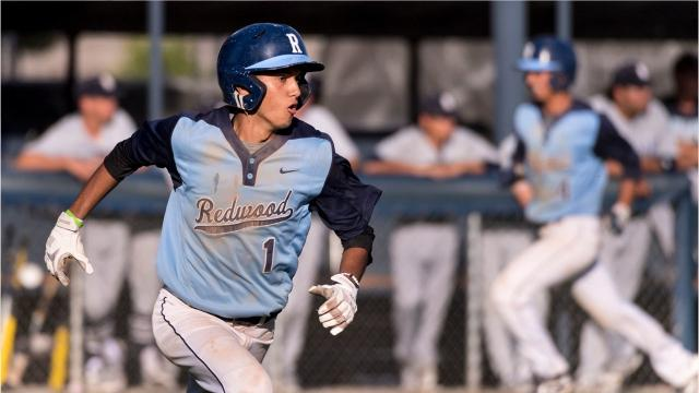 The Redwood High baseball team defeated Bullard in the first round of the Central Section Division I playoffs.