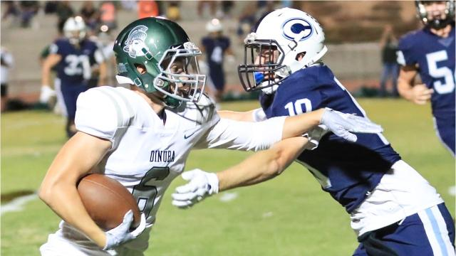 Central Valley Christian High defeated Dinuba 21-7 in a Central Sequoia League game.
