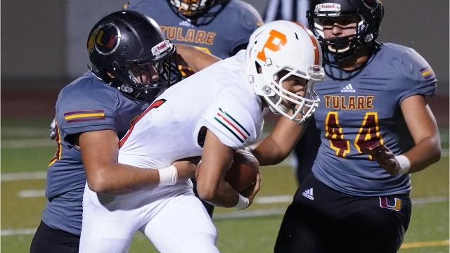 Tulare Union High defeated Porterville 49-0 in an East Yosemite League football game.