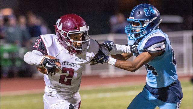 Mt. Whitney and Redwood met in the 64th annual Cowhide football rivalry game.