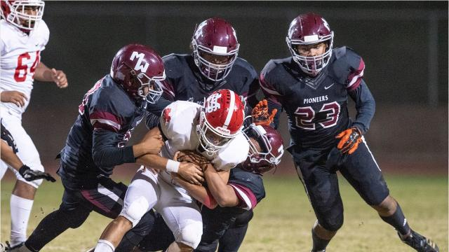 The Mt. Whitney High football team defeated Santa Maria in a Central Section Division III playoff game.