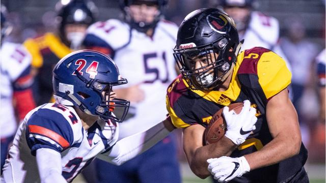 San Joaquin Memorial and Tulare Union met on Saturday in a battle of unbeatens in a state regional high school football game.