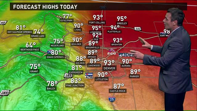 Northern Colorado forecast: Chance of showers, thunderstorms