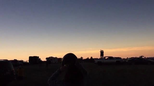 Eclipse 2017: Cheers erupt as totality falls on Wyoming