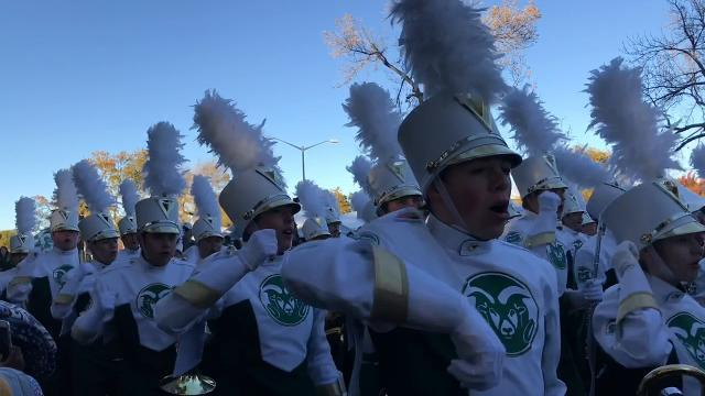 Watch: CSU's Ram Walk for homecoming vs. Nevada