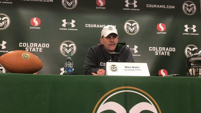 CSU coach Mike Bobo: \u0022Lot of upsets this weekend, but not CSU\u0022