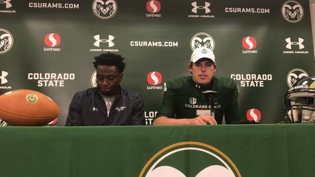 CSU WR Michael Gallup and QB Nick Stevens thrilled to get win vs. Nevada