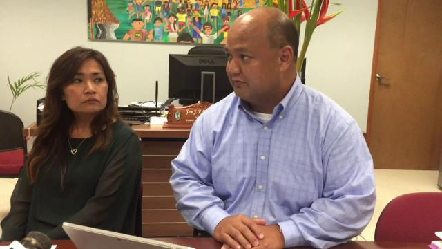 Superintendent Jon Fernandez and Deputy Superintendent Erika Cruz reassure parents that school administrators, faculty and staff are trained to deal with emergencies. Guam DOE will also help parents help their kids.