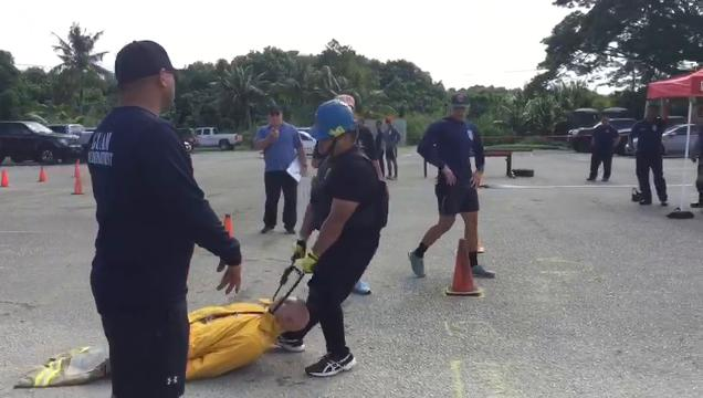 Firefighter tryouts