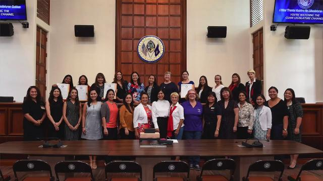 Resolution presentation for Guam's women in business leaders