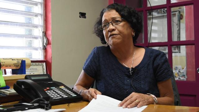 Vivian Castro Leon, who owns property in Jinapsan, located past Andersen Air Force Base on the northern end of Guam, says she has military guidelines to follow when accessing her land.