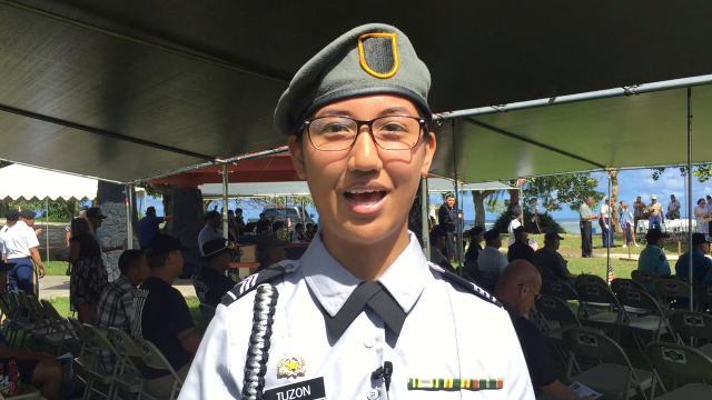 Guam residents say 'Happy Veterans Day'