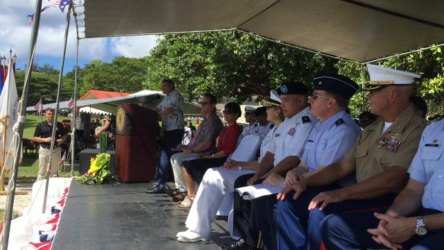 Gov. Calvo praises veterans for service