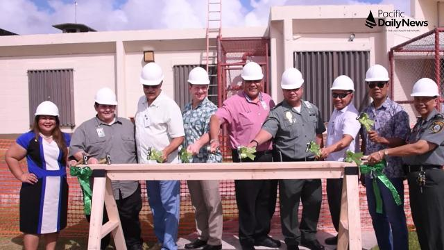 Guam DOC begins new housing projects showing new lock systems