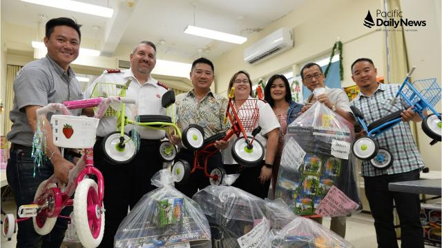 The Chinese Chamber of Commerce of Guam donates over $4,500 in toys to The Salvation Army.