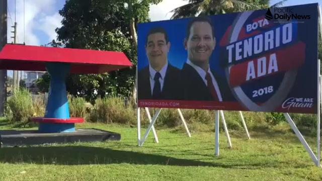 Yigo resident says Tenorio/Ada campaign sign placed without permission.