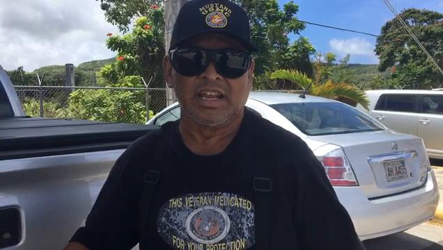 Evangelis Babauta says he is fed up with the way veterans are treated