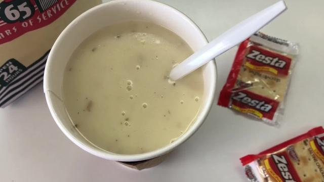 Winchell's Guam is running out of clam chowder after its manufacturer stopped making the product. Most stores have signs telling customers they are no longer serving it.