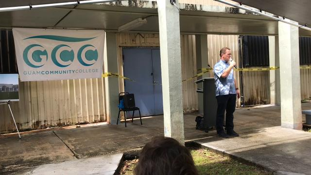Guam Community College broke ground on a$4.45 million renovation project of Building 300 Wednesday, the third of GCC's old Butler buildings constructed in the mid-1960s to be renovated in the past five years.
