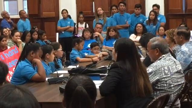 Public testimony of students, parents and staff members of Guahan Academy Charter School explaining why the school should remain open.