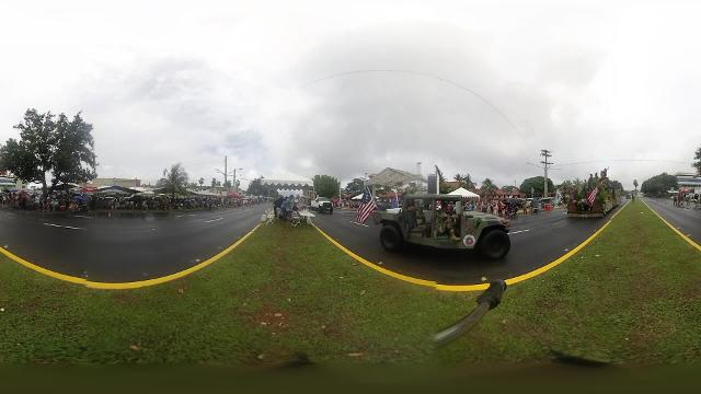 Sights and sounds of the 74th Liberation Day Parade in 360