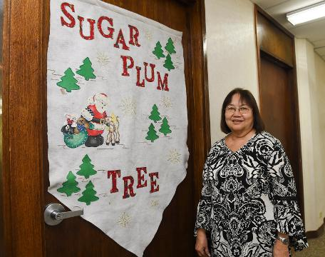 Bobbie Leon Guerrero,  Sugar Plum Tree president and executive director discusses the program on Oct. 15, 2018.
