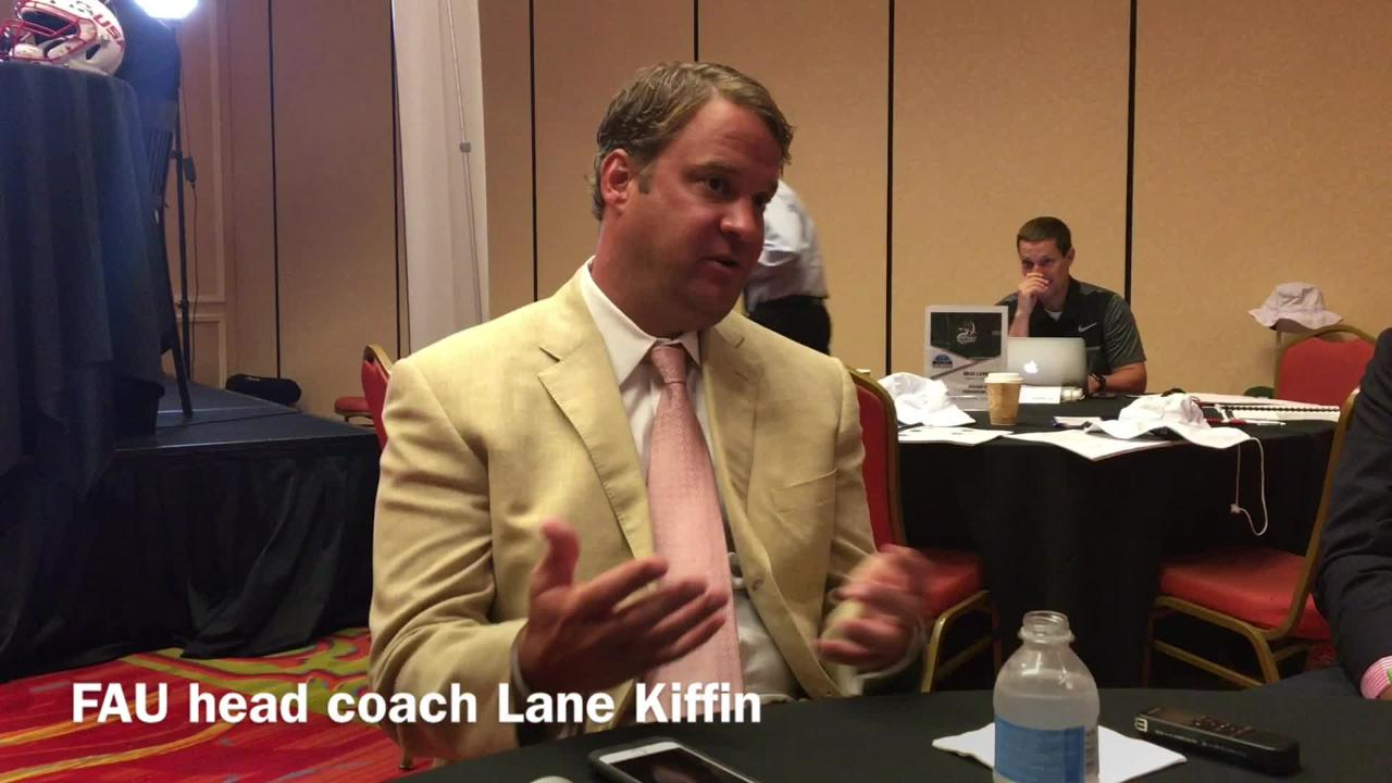 lane kiffin brings national brand to fau far from the nfl or sec