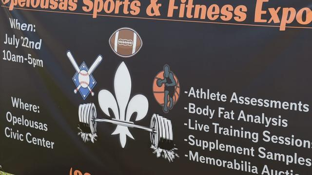 Fitness and sports expo held Saturday at the Opelousas Civic Center