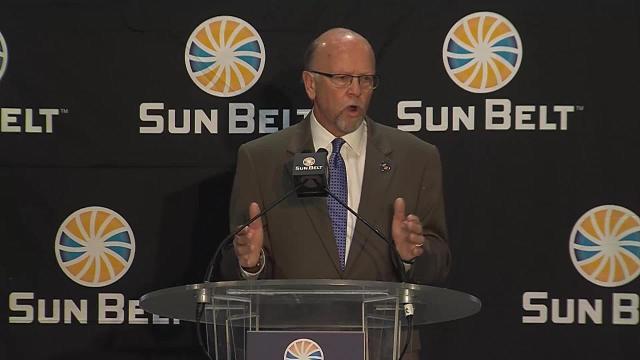 WATCH: Karl Benson Speaks at Sun Belt Media Day 2017