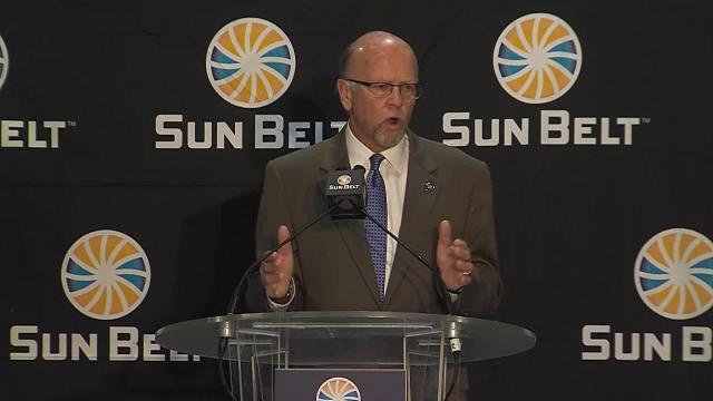 WATCH: Karl Benson Speaks at Sun Belt Media Day 2017