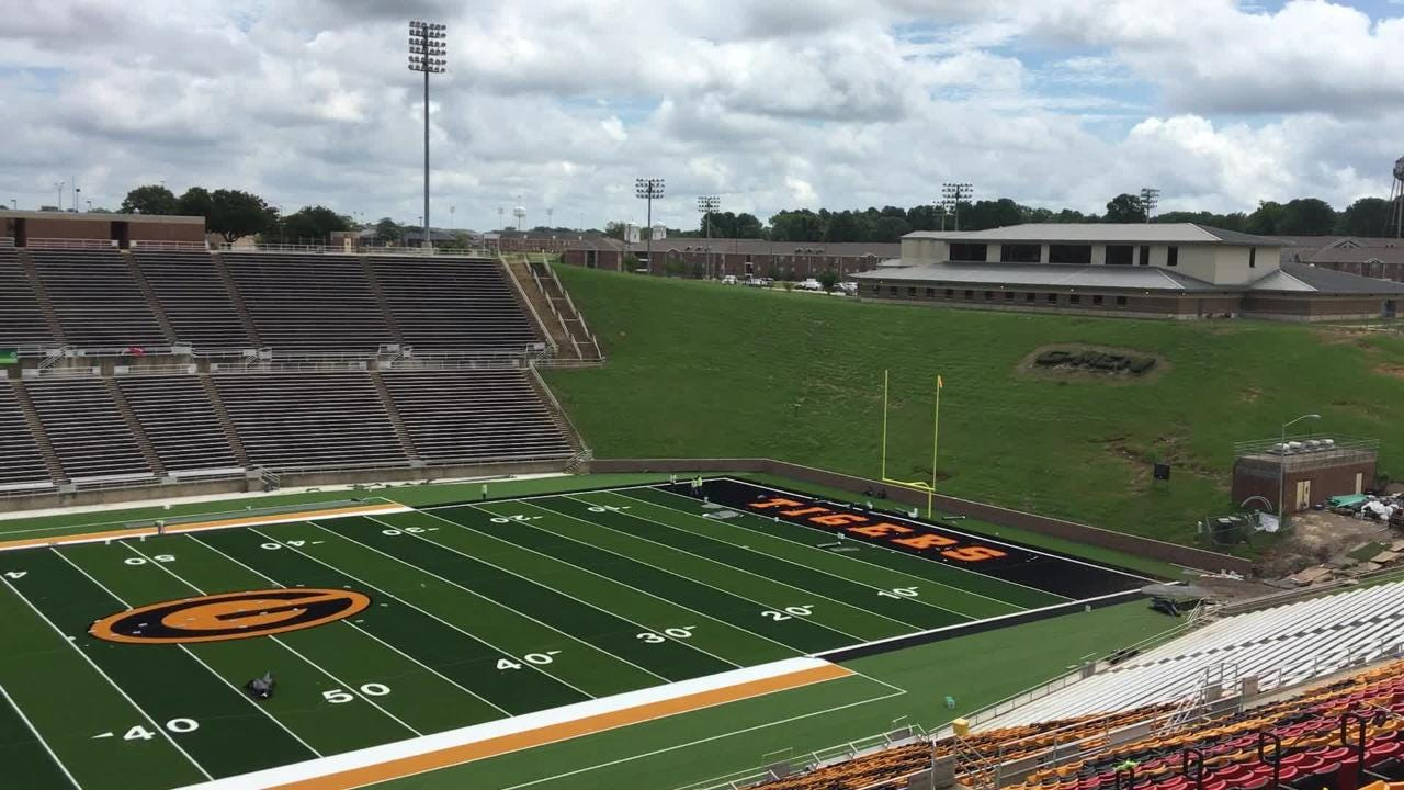 How Eddie Robinson Stadium looks after its $2.4 million face lift.