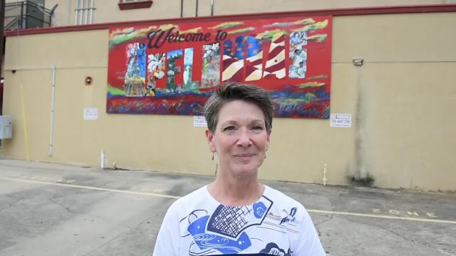 The art scene in downtown Opelousas