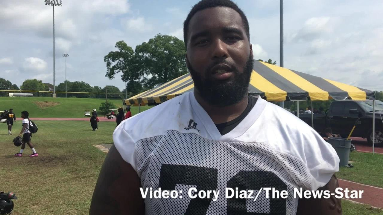 Senior lineman Trent Scott describes the OL's progression