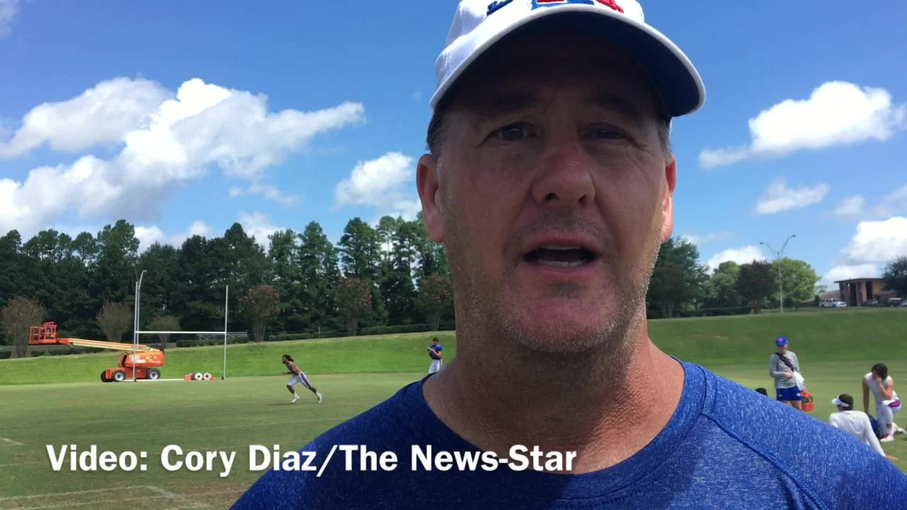 Todd Fitch explains what stands out about his receivers during fall camp