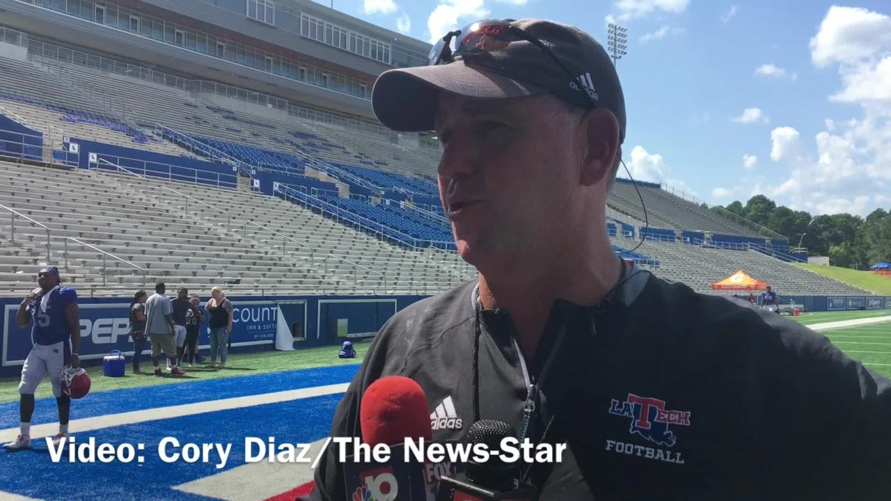 Skip Holtz assesses Tech's offensive progression at team's scrimmage