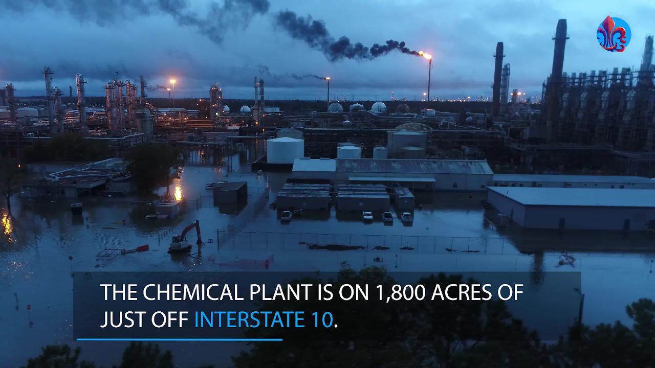 Exclusive Drone Footage: chemical plant flooding