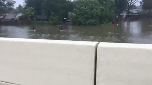 On the scene of rescues near Houston
