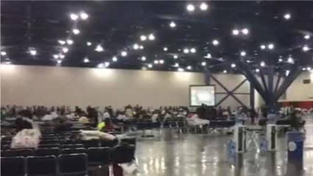 Thousands seek shelter at Houston convention center