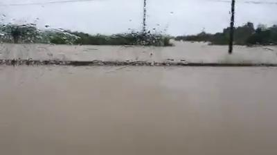 Flooding on I-10 near Houston