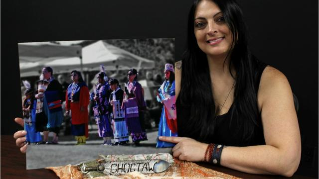 Choctaw artist and photographer Sonya Bratlie says her purpose in life is to help preserve her tribal culture.