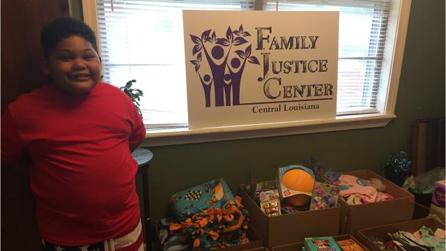 Six year old Dominik has used his birthday as an opportunity to raise donations for The Family Justice Center.