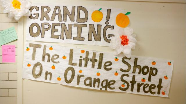 The grand opening of The Little Shop on Orange Street, an entrepreneurial school program in which students will manufacture, market and sell products, at Paul Breaux Middle School in Lafayette.