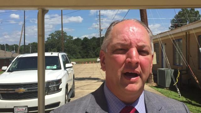 Louisiana Gov. John Bel Edwards met with northern Louisiana legislators in Monroe Wednesday to discuss whether or not he will seek to replace BRF as the operator of the state's safety net hospitals in Monroe and Shreveport.